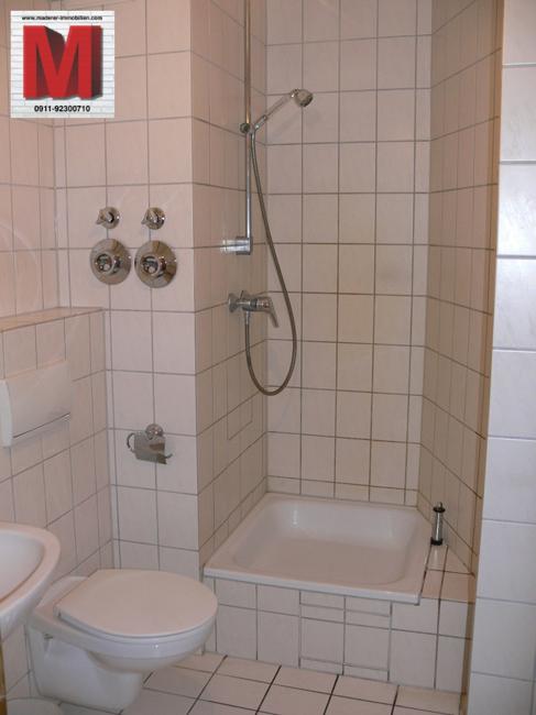 Badezimmer Pic1 der ruhigen 1 Zimmerwohnung in 90478 Nürnberg WE804 ...